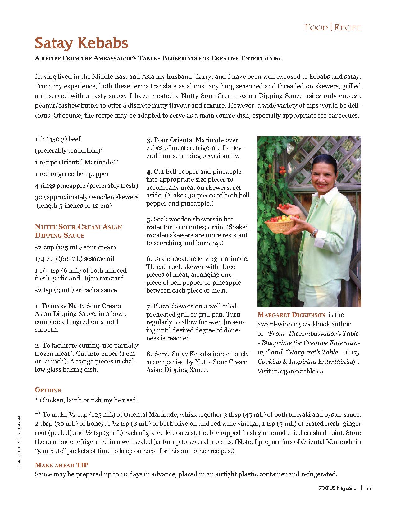 STATUS Magazine LarryDickenson Satay Kebabs2